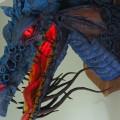 Um dragão de papel Maché