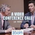 Videoconferência na vida real